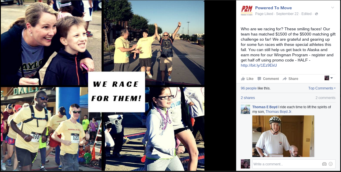 Powered To Move Virtual Charity Race Facebook Post