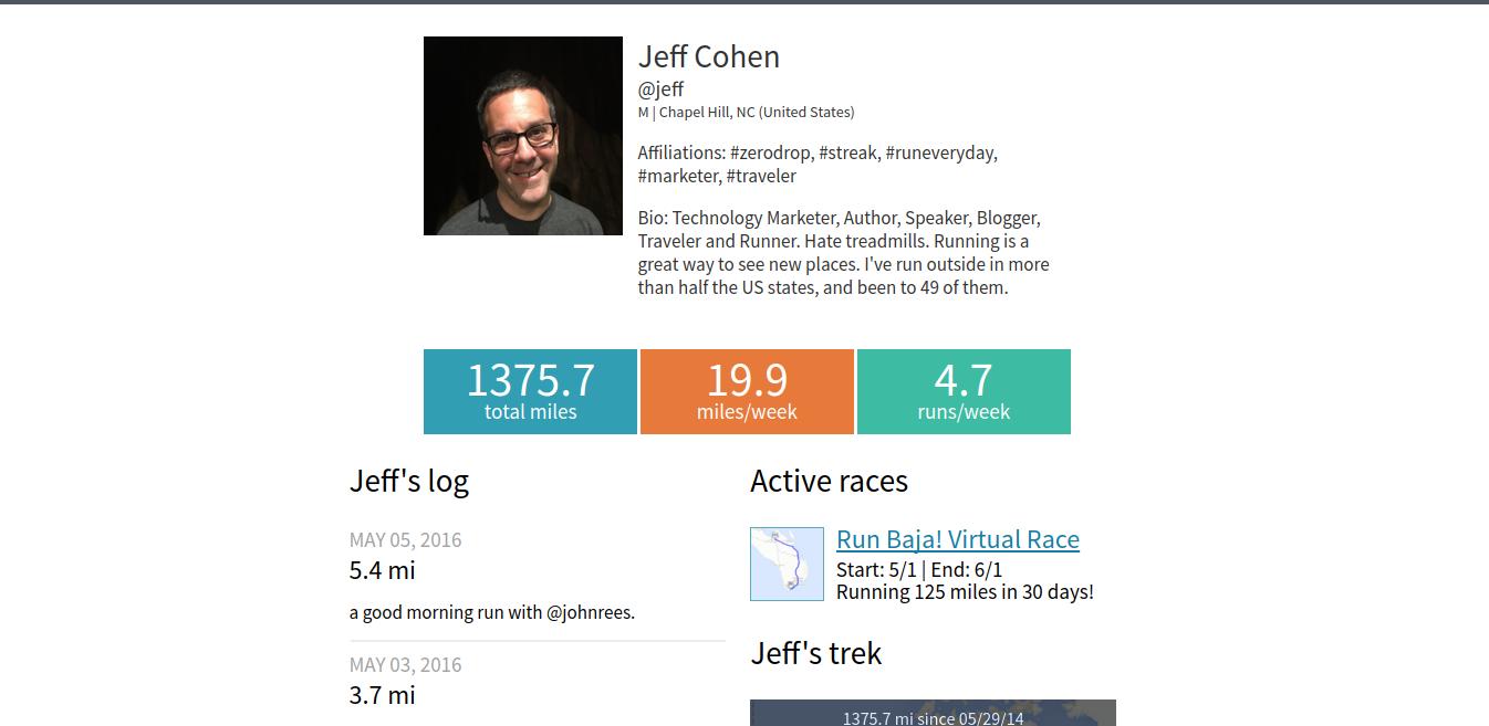 current virtual races bio