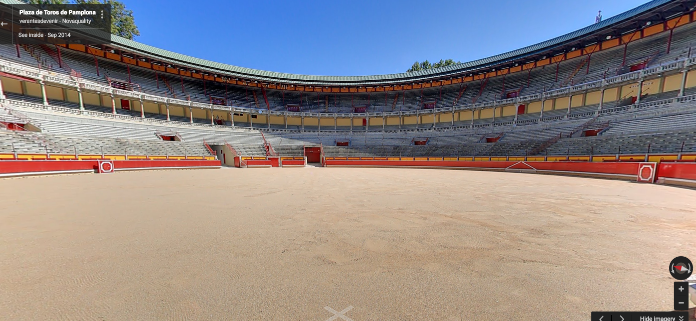 New Google street views for Racery's virtual races in Pamplona and Venice