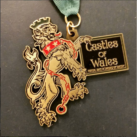 Racery Virtual Races Wales Castles Medal