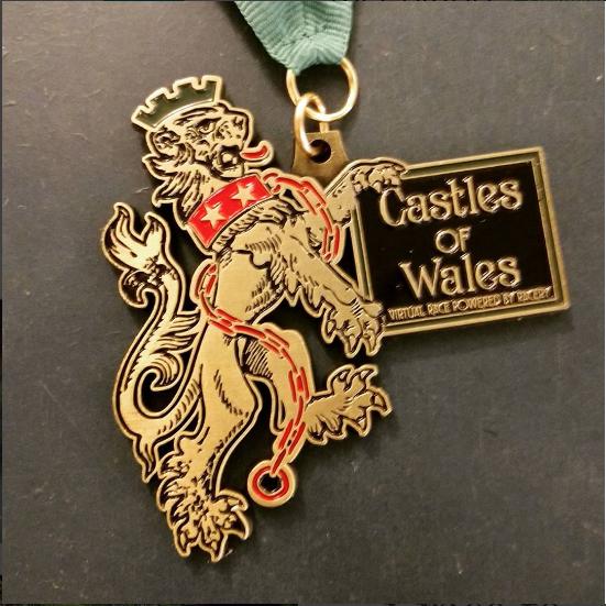 Racery Virtual Races Wales Castles Medal