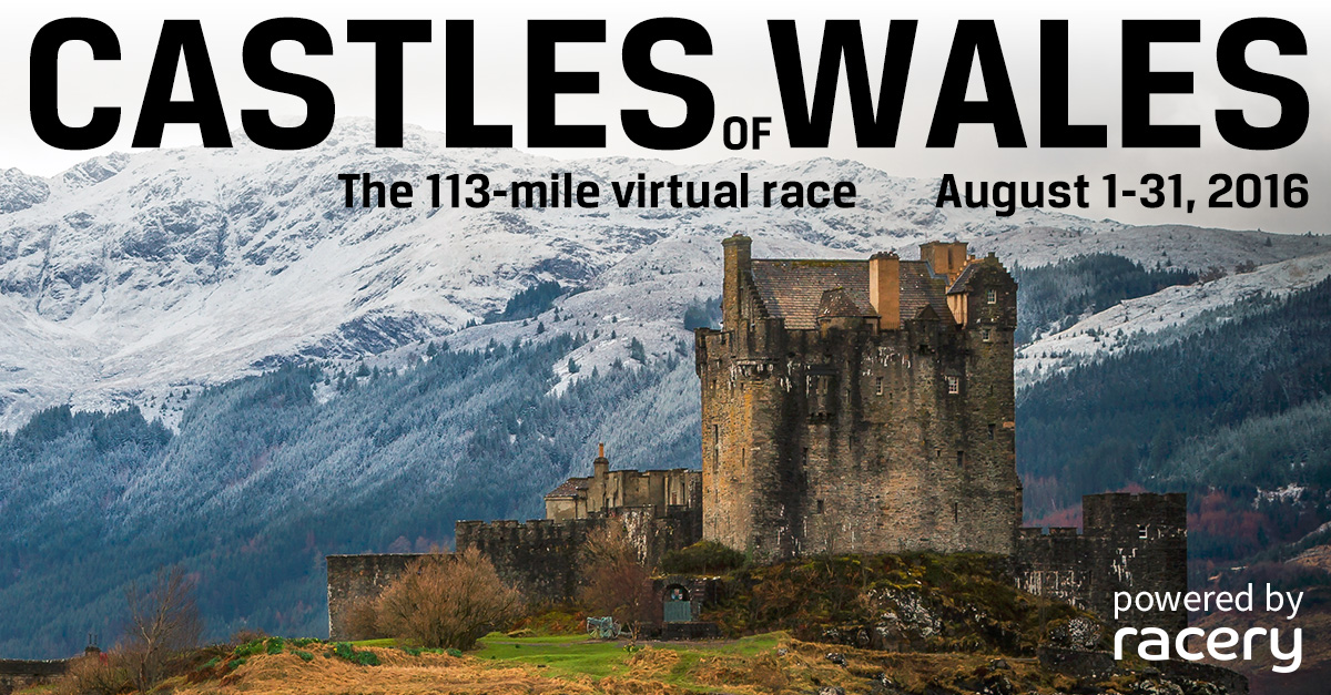 Racery Wales Castles Virtual Race with Medals