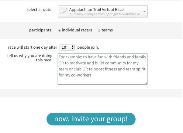 Free Virtual Race Signup Form