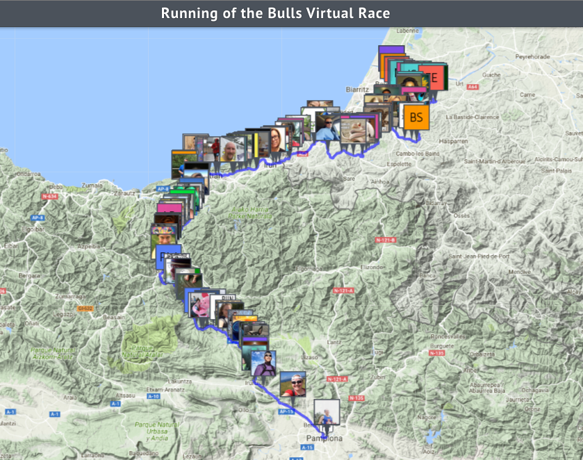 Virtual Race Map