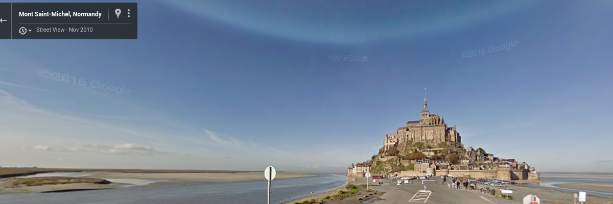 Street view from virtual Tour de France
