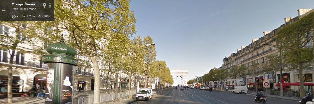 Paris street view in virtual Tour de France