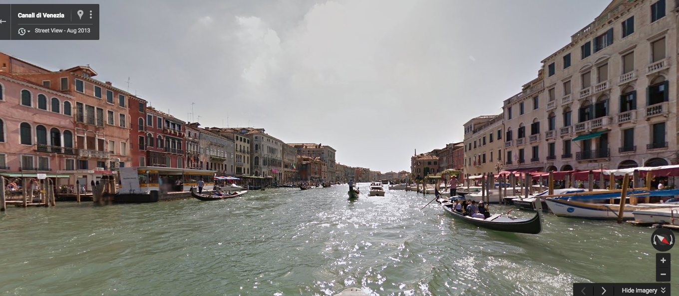 Street View from Racery's Virtual Rowing Race in Venice