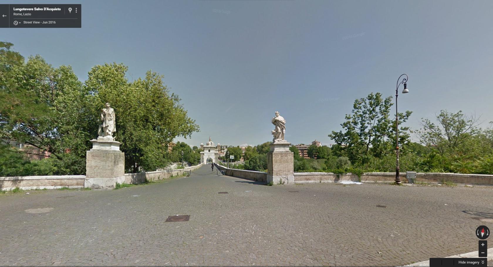 Virtual Race Street View of Milvio Bridge