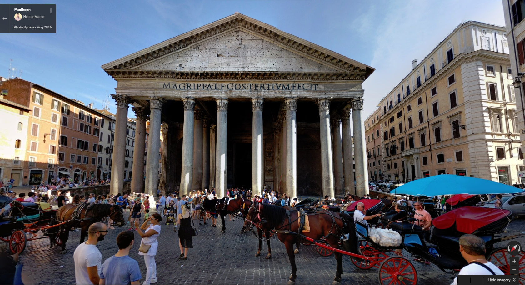 Virtual Race Street View of Pantheon