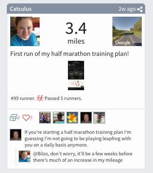 Racery Virtual Races - Catuculus - Half Marathon Training