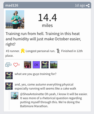 Racery Virtual Races - mad126 - Virtual Marathon Training Post