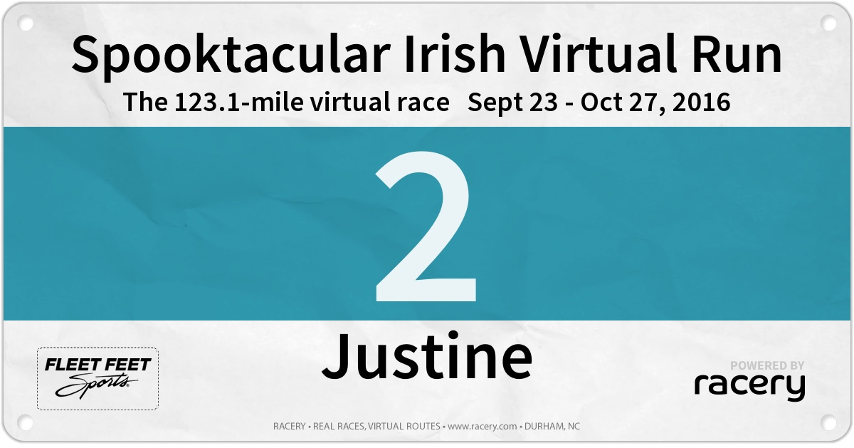 Spooktacular virtual race bib