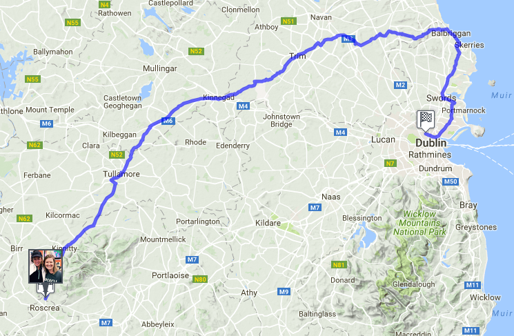 The 123 mile Google route for the Spooktacular virtual race.
