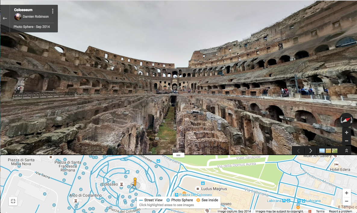 Racery Virtual Races - Street View - Rome Colosseum