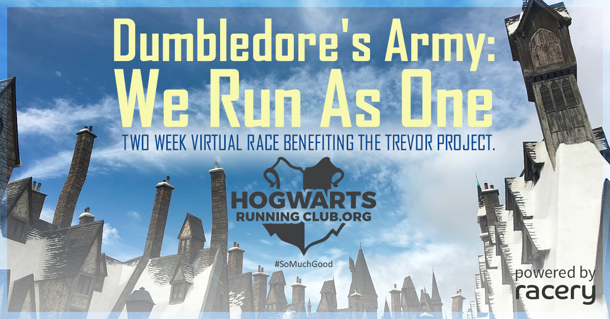 Hogwarts Running Club - Virtual Running Race - Announcement Placard