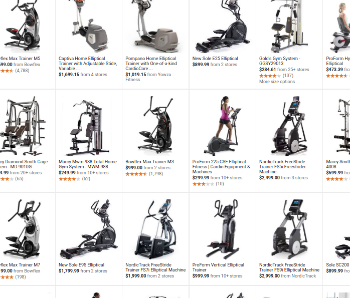 Google search for fitness machines   Google Search