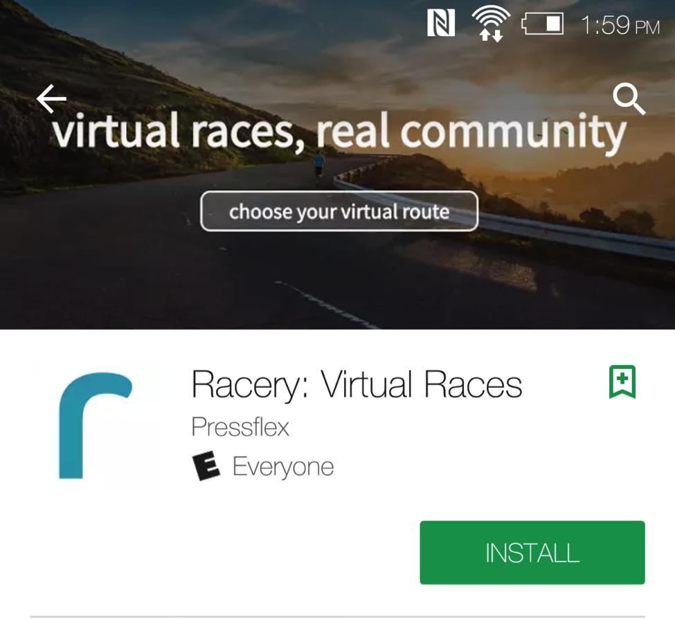Hey runners, Racery introduces an Android app for virtual racing!