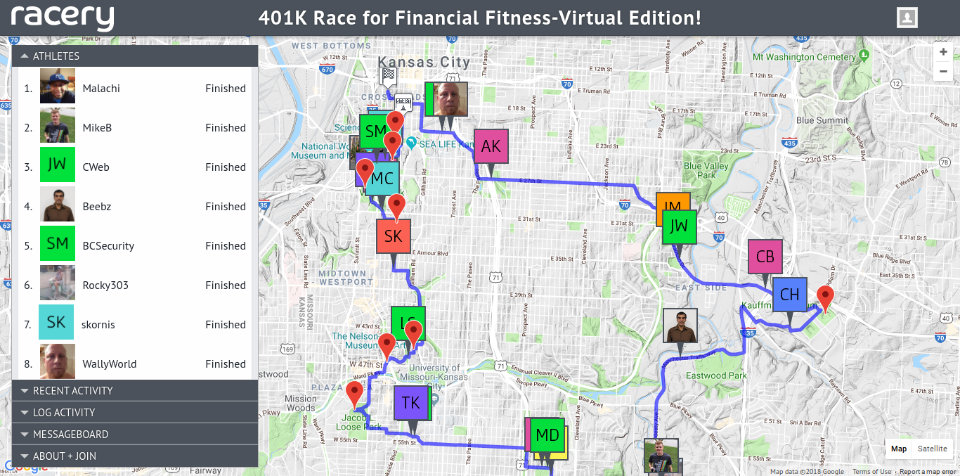 Everyone wins motivation in a virtual race for corporate fitness