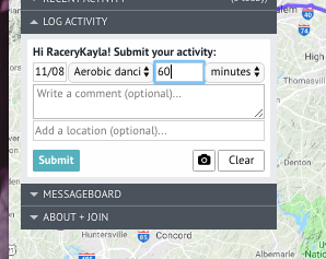 Converting activity minutes into miles in a virtual race for employee fitness