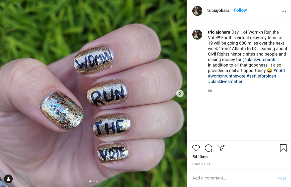 Womxn Run the Vote triggers a social media avalanche